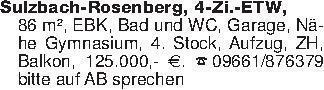 Sulzbach-Rosenberg, 4-Zi.-ETW,...