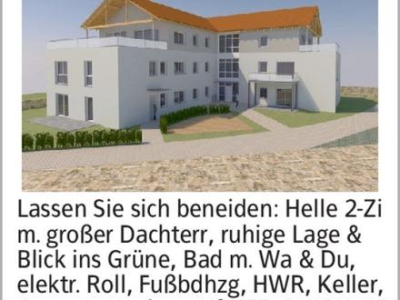 Lassen Sie sich beneiden: Helle 2-Zi m. großer Dachterr, ruhige Lage &...