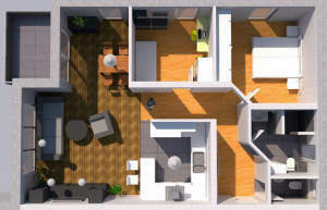 Tolle Erdgeschosswohnung mit Terrasse