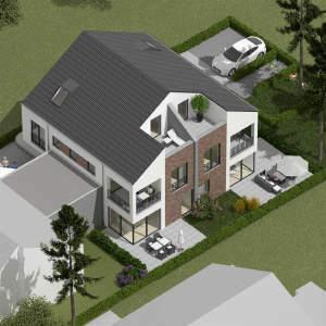 St. Mauritz! Maisonettewohnung in DHH - zentrale Hinterhausbebauung!