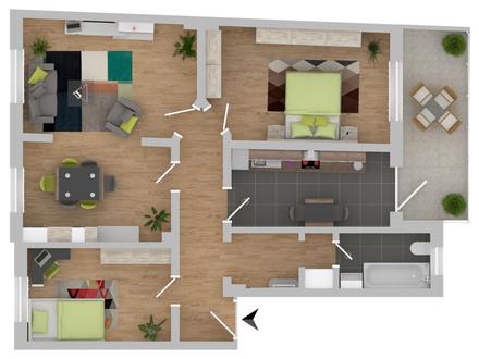 Traumhafte Altbau-Wohnung in Klein-Muffi