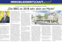 Die BBG ist 2018 sehr aktiv am Markt