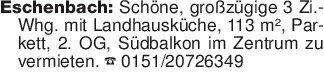Eschenbach: Schöne, großzügige...