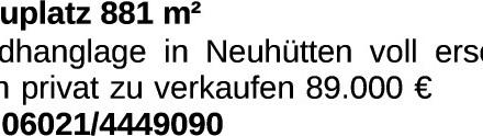 Bauplatz in Neuhütten