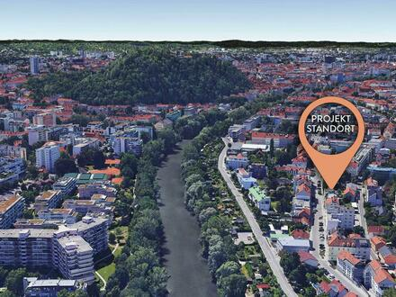 Projektliegenschaft mit Schloßbergblick