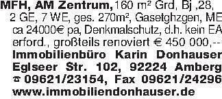 MFH, AM Zentrum,160 m² Grd, Bj...