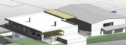 Variable Gewerbehalle auf 2 Ebenen samt Werkstätten, Büro + Sanitärräumen
