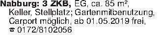 Nabburg: 3 ZKB, EG, ca. 85 m²,...