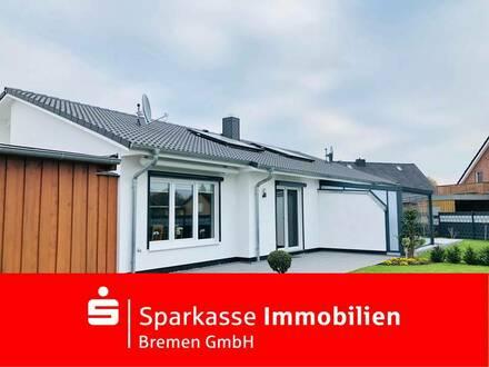 Ebenerdige, junge Doppelhaushälfte im Bungalow-Stil in bevorzugter Wohnlage in Lilienthal-Trupermoor