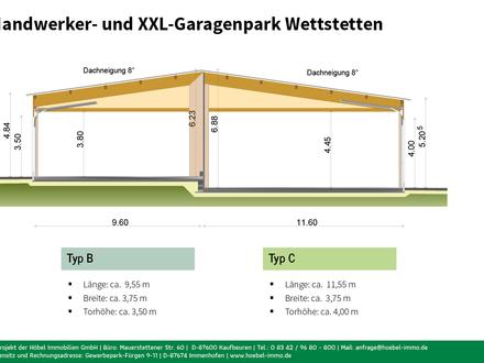 Garage Typ B (ca. 35 m²) in neuem Handwerker- und XXL-Garagenpark