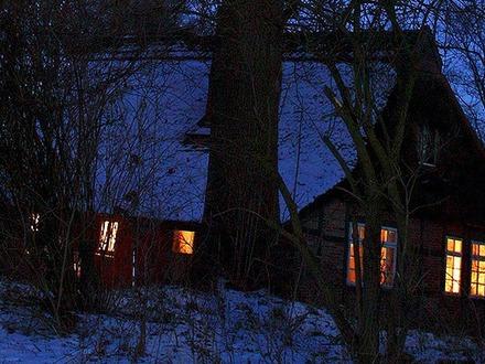 Fachwerkhaus mit Reetdach bei Worpswede