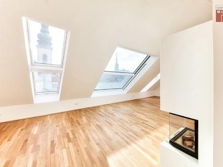 WIEN 1. BEZIRK - STADTLEBEN DELUXE MIT AUSBLICK: Atmosphärische Dachterrassenwohnung