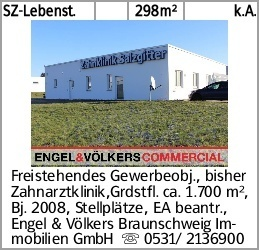 SZ-Lebenst. 298m² k.A. Freistehendes Gewerbeobj., bisher Zahnarztklinik,Grdstfl....