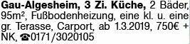 3-Zimmer Mietwohnung in Gau-Algesheim (55435)