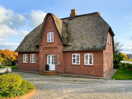 Reetgedecktes Friesenhaus mit 6 Zimmern nahe Husum und Bredstedt