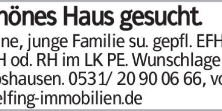 Schönes Haus gesucht. Kleine, junge Familie su. gepfl. EFH, DHH od. RH...