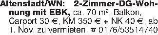 Altenstadt/WN: 2-Zimmer-DG-Woh...