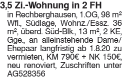 3,5 Zi. Wohnung in 2 FH