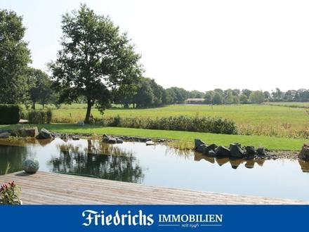 Erstklassig gelegenes Wochenendgrundstück mit Schwimmteich im Erholungsgebiet Wiefelstede-Mollberg