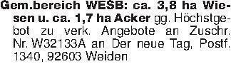 Gem.bereich WESB: ca. 3,8 ha W...