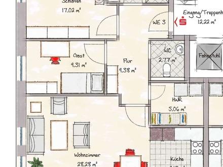 Wohnung 3 - nicht maßstabsgerecht