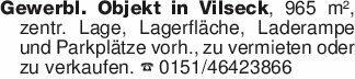 Gewerbl. Objekt in Vilseck, 96...
