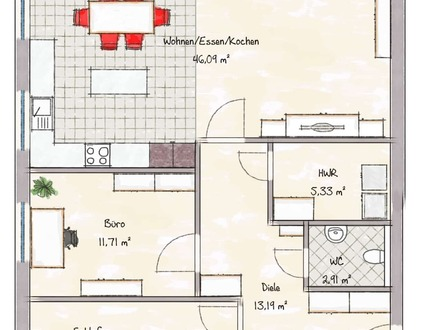 Großzügige 3-Zimmer-Etagenwohnung in Bünde-Spradow