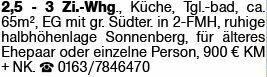 3-Zimmer Mietwohnung in Wiesbaden (65191)