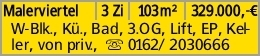 Malerviertel 3 Zi 103m² 329.000,-€ W-Blk., Kü., Bad, 3.OG, Lift, EP, Keller,...