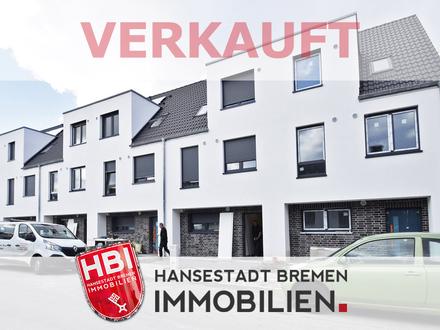 VERKAUFT! Walle / Neubau: Modernes Reihenmittelhaus mit Sonnengrundstück
