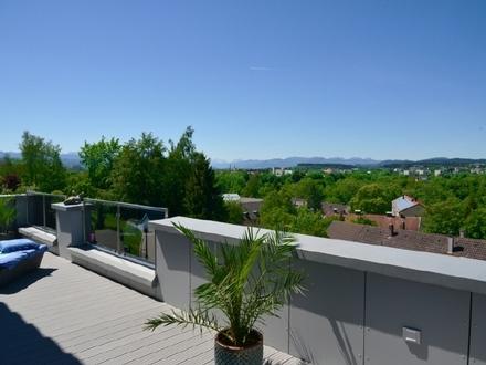Exklusives Einfamilienhaus mit Blick über Kempten