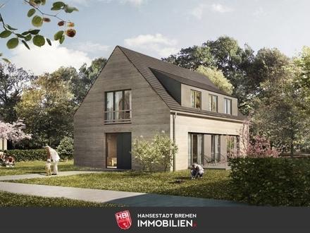 Worspwede / Bötjerscher Hof - Großzügiges Einfamilienhaus in Holzrahmenbauweise mit großem Garten