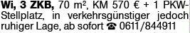 3-Zimmer Mietwohnung in Wiesbaden (65187)
