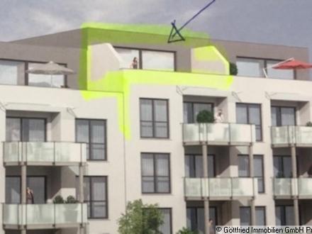 Chices Penthouse mit XXL-Balkon, Einbauküche, Garage, Stellplatz