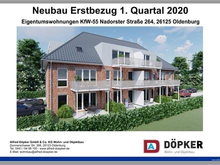 Neubau-Eigentumswohnung OL-Nadorst, W 7, DG links