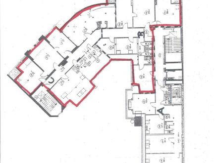 Büroflächen 134 m² + 153 m², totalsaniert, Kabelkanäle