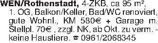 WEN/Rothenstadt, 4-ZKB, ca 95...
