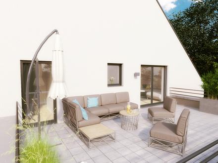 Raffinierter Grundriss und sonnige Dachterrasse mit 30 m² suchen anspruchsvollen Liebhaber