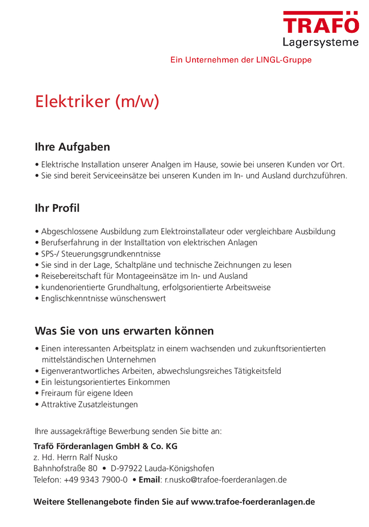 Wir sind ein wachsendes zukunftsorientiertes Unternehmen mit Sitz in Lauda-Königshofen. Unsere Spezialität sind automatische Lagerysteme. Weltweit sind wir einer der führenden Hersteller.