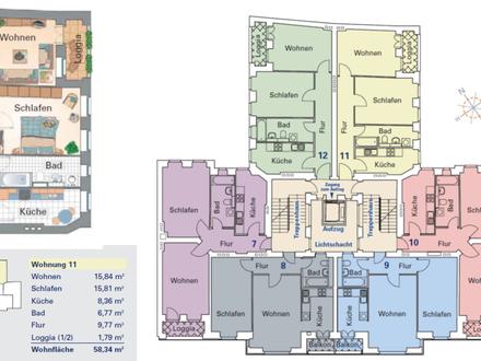 Helle und sehr schön geschnittene 2 Zimmer-Wohnung in denkmalgeschütztem Gebäude im Trendviertel Prenzlauer Berg