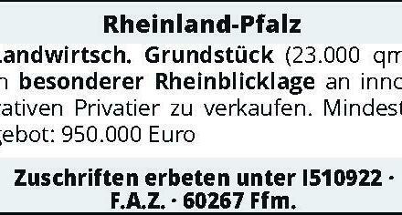Rheinland-Pfalz Landwirtsch. Grundstück