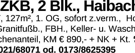 4 ZKB, 2 Blk., Haibach