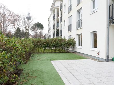 Vollmöbliert Wohnen am Luisenpark - Terrassenwohnung mit Garten und Garage!
