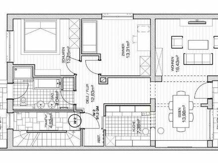 Moderne 3 Zimmer OG Wohnung in Hallstadt Mitte mit großem Garten in ruhiger Lage