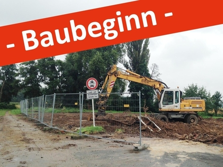 Der Baubeginn ist erfolgt