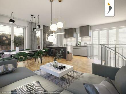 Außergewöhnliche Maisonette-Wohnung über den Dächern von Frankfurt