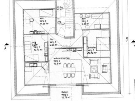 4 Zi. Dachgeschoss in WOB-Wendschott