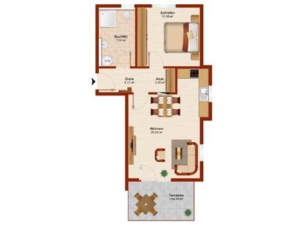 KfW 55! 2 Zimmer-ETW - Neubau! Wohnen am Wasserwerk