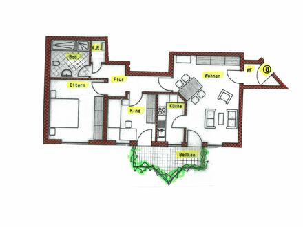 Wohn-freundliche 3-Zimmer-EG-Eigentumswohnung