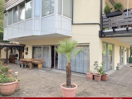 Riesige Terrasse mit 3 1/2 Zimmer Wohnung im Grünen